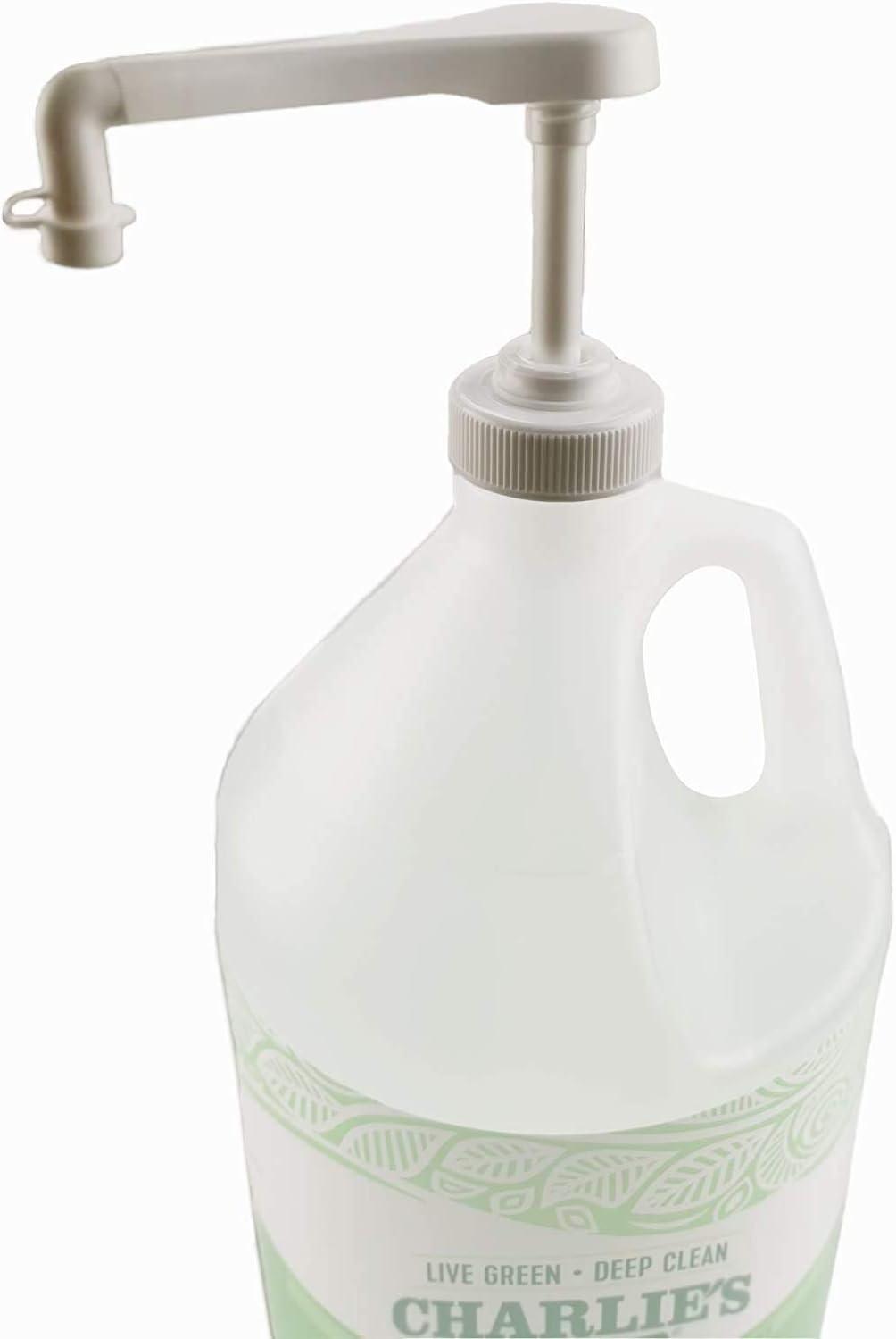 eBun Gallon Pump Bottle Dispenser (38/400, 1/4 Oz Output) Pump Fits Gallon Jug Hand Sanitizer Bulk Laundry Liquid Soap Shampoo Conditioner Massage Lotion Popcorn Oil Half Gallon Container