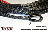 "Ranger 7,500 LBs 1/4"" x 50' Dyneema Synthetic Winch Rope 6 MM x 15 M for UTV / ATV Winch by Ultranger"