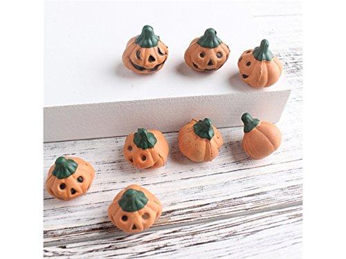 Huasen Miniature Ten Pcs Fairy Garden Miniature Grimace Pumpkin Crafts Micro Landscape Decor DIY Gift (Orange) for Ornament]()