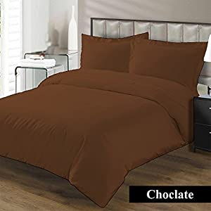Premium Duvet Cover with Zipper Closer 100% Egyptian Cotton 600 Thread Count Luxurious, Durable and Hypoallergenic Ultra Soft Breathable By Kotton Culture ( California King/King, Chocolate )