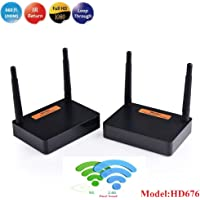 MEASY FHD676 Wireless Full HD kit (WiFi hdmi Transmitter and Receiver) Support 200m/600feet Transmission Distance HDMI1.4,HDCP1.4 with IR Control Function