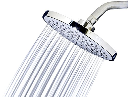 Head Round High Pressure High Flow Showerhead Chrome Finish Universal Replacement For Bathroom Shower Heads ()