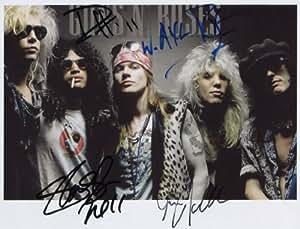 Guns' n Roses foto firmada de 1st 150 Ltd certificado + generación diseño de impresión (5)