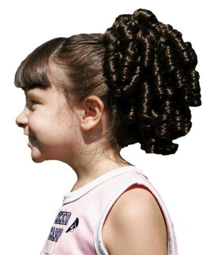 Cheerleader Ringlet Curly Drawstring Ponytail (1: Jet Black) (Fake Wigs)