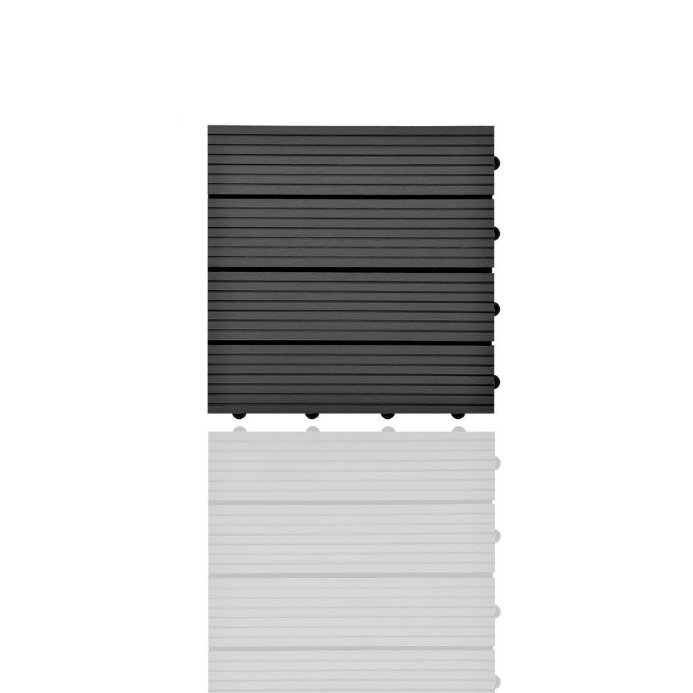 SIENOC Terrassen-Fliese aus WPC Kunststoff Garten-Fliese,Balkon Bodenbelag mit Drainage Unterkonstruktion 30x60 cm, Neu Hellbraun Einzelfliese