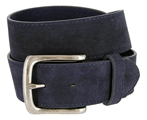 Suede Leather Belt Strap (Casual Jean Genuine Suede Leather Belt for Men (Navy,)