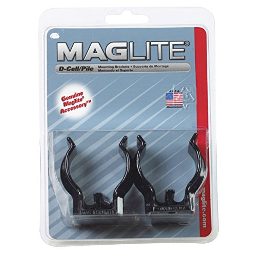 Maglite ASXD026 D-Cell Mag Flashlight Mounting Brackets