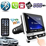YOUNGFLY Car MP3 Player LCD Displayer Wireless Bluetooth FM Transmitter Support TF/SD/MMC/MP3/CD/DVD