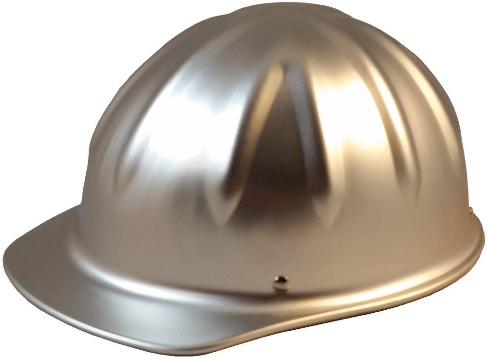 SkullBucket Aluminum Cap Style Hard Hats with Ratchet Suspensions - Silver