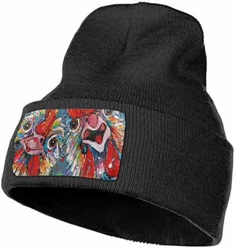 42a67ccadd583 YOOJPC-6 Unisex Rooster Knit Hat Beanie Skull Caps for Winter Warm Hat