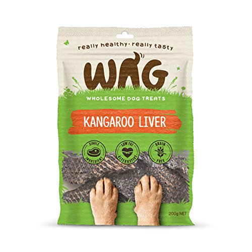 - Get Wag Kangaroo Liver 200g/7oz, Grain Free Hypoallergenic Natural Australian Made Dog Treat Chew, Perfect for Training