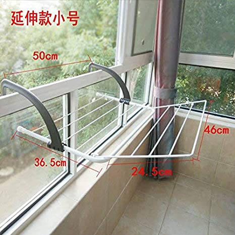 WSX Tap Perchero Plegable de Barandilla balcón Interior para ...