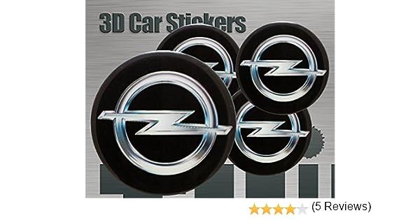 Adhesivos 3D 4 pzs. Imitación Todo tamaño Tapa central Tapas de rueda (40 mm)