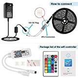 Nexlux LED Strip Lights, WiFi Wireless Smart Phone Controlled Light Strip Kit 16.4ft 150leds 5050 Waterproof IP65 LED Lights,Working Android iOS System,IFTTT, Google Assistant