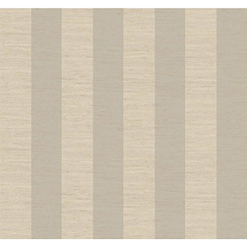 Cream Manor (York Wallcoverings GG4704 Gentle Manor 3-Inch Stripe Wallpaper, Soft Silver Pearl Metallic/Lacey Cream/Linen Beige)