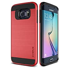 Galaxy S6 Edge Case, Verus [Verge][Red] - [Heavy Duty][Military Grade Drop Protection][Slim Fit] For Samsung Galaxy S6 Edge
