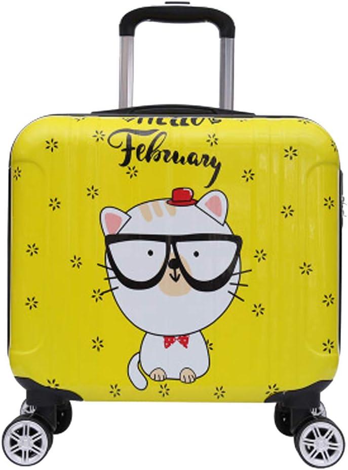 Cute Cartoon Boarding YSZG Childrens Suitcase Universal Wheel Wearable Bag,