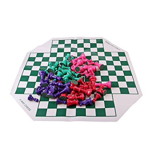 D DOLITY Tablero De Ajedrez Flexible Plegable Chessman Juego De Juguetes Portátiles Para Niños
