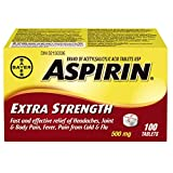 Bayer Aspirin Extra Strength Tablet, 500 mg