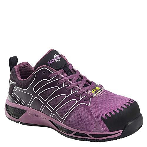 Nautilus Women's Slip Resistant Athletic Work Shoes Composite Toe Purple 9 W