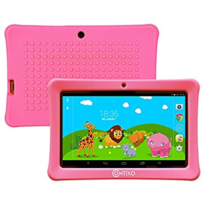 """Contixo Kids LA703 7"""" Quad Core Android 4.4 Kitkat Multi-Touch Screen Tablet PC, HD Display 1024x600, 1GB RAM, 8GB Nand Flash, Dual Camera, WiFi, Kids Apps Pre-loaded, Google Play Pre-installed, 3D Game Supported from Contixo"""