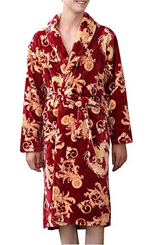 Sauna Azul Pijamas Invierno Suave Abrigo Otoño Estilo Albornoz Hombres Loungewear Bata Cálido Acogedor Especial Bobolily gqxw1Xa6n