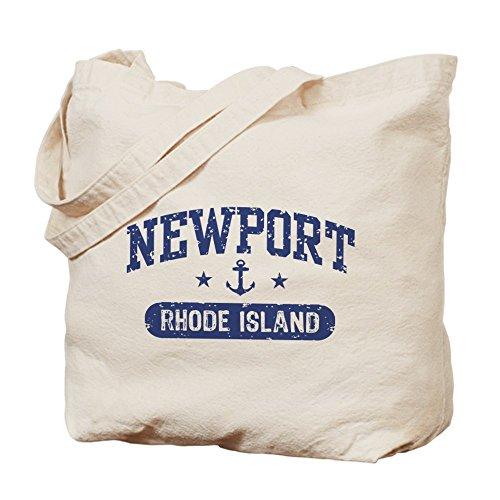 CafePress - Newport Rhode Island - Natural Canvas Tote Bag, Cloth Shopping - Beach Newport Shopping