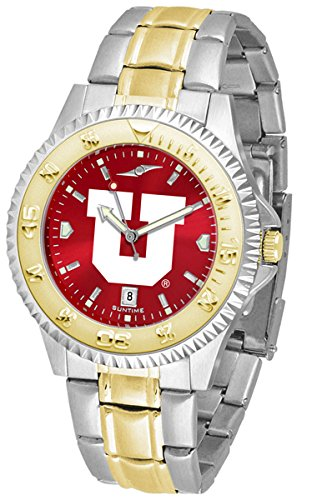 Utah Utes Competitor Steel Watch (Utah Utes Competitor Two-Tone AnoChrome Men's Watch)