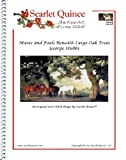 Scarlet Quince STU001lg Mares and Foals Beneath Large Oak Trees by George Stubbs Counted Cross Stitch Chart, Large Size Symbols