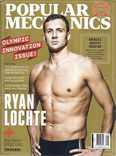 Popular Mechanics July/August 2016 Ryan Lochte Olympic Innovation - Ryan Sunglasses