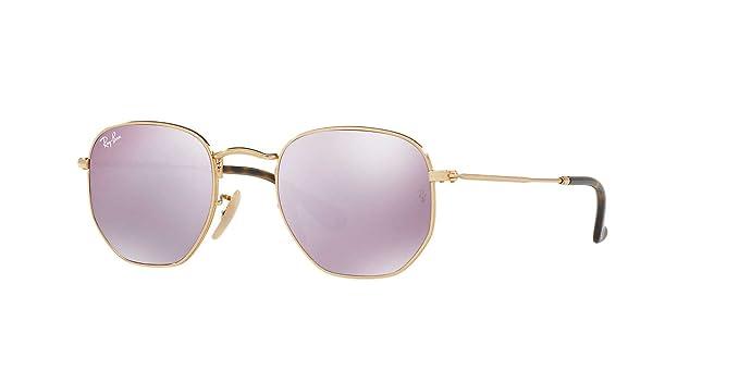 d28d10cc7ff ... Ray-Ban Hexagonal Flat Lens Sunglasses (RB3548) Gold Blue Metal - Non  ...