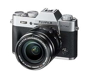 "Fujifilm X-T20- Cámara EVIL de 24 MP (pantalla de 3"", visor electrónico, resolución máxima 4K) plata - kit cuerpo con objetivo XF 18-55 F2.8-4 R LM OIS"