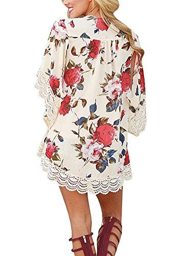 beige lace summer dress - 4