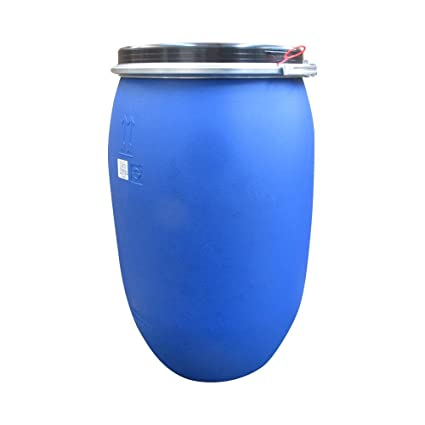 220 LITRE / 48 GALLON PLASTIC DRUM/BARREL/CONTAINER FOR  SHIPPING/WASTE/FEED/FOOD