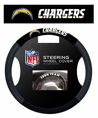 Steering Charger - Fremont Die NFL Los Angeles Chargers Poly-Suede Steering Wheel Cover