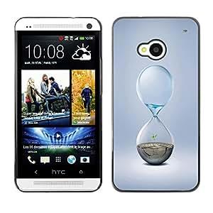 TopCaseStore / la caja del caucho duro de la cubierta de protección de la piel - Hourglass Design - HTC One M7