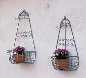 """Montado en la pared estante """"Romances"""" 2 de piezas. Juego soporte de flor 20313 Metall estante de la flor"""