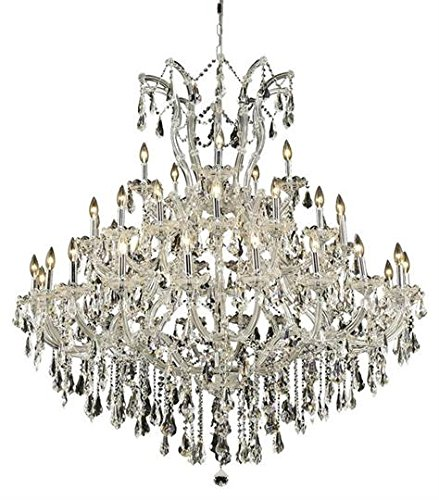 Karla Chrome Traditional 41-Light Grand Chandelier Heirloom Handcut Crystal in Crystal (Clear)-2381G52C-RC--24