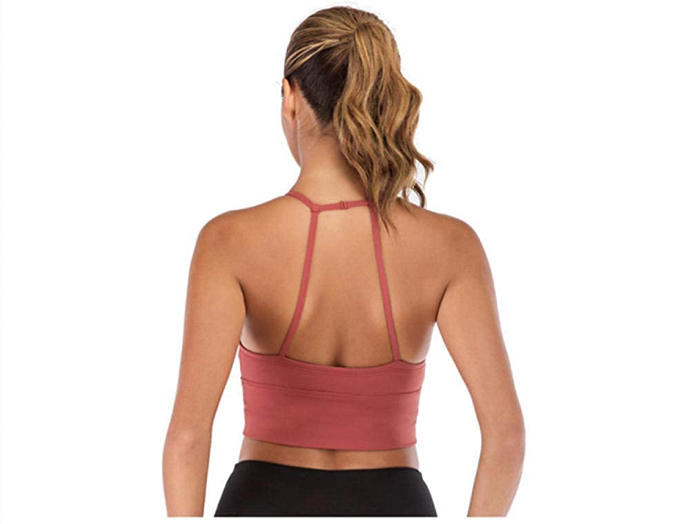 Yoga Bra Crop Tops Wireless Push Up Sport Bra Top Women ...