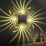 Yaojiaju 3W LED Wall Light Aluminum Wall Sconce Decoration Lamp For Aisle Bedroom Corridor Porch KTV BAR AC85-265V (Color : Warm White)