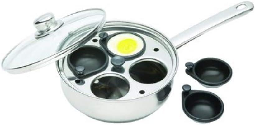 Kitchen Craft Pentolino per uova in camicia in acciaio rivestito di alluminio