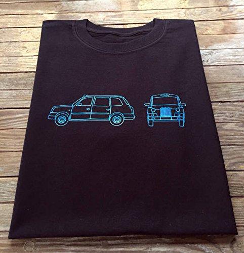 London black taxi t shirt tx4 blueprint outline design amazon london black taxi t shirt tx4 blueprint outline design malvernweather Images
