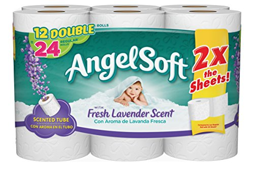 Angel Soft Double Rolls, Lavender, 12 Count