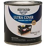 Rust-Oleum 1974730 Painters Touch Latex, Half Pint, Semi-Gloss Black