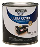 Rust-Oleum 1974730 Painters Touch Latex, Semi-Gloss Black