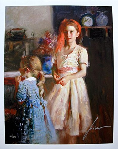 Wall Art by Pino Daeni Best Friends Hand Signed Limited Edition Giclee Print. After the Original Painting or Drawing.