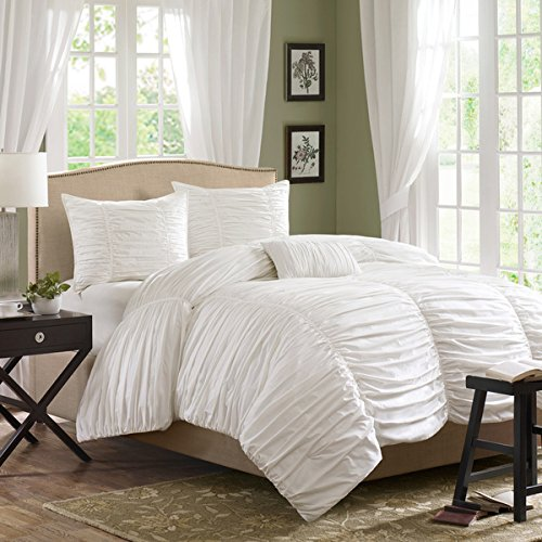 Daybed Twin White Cotton 3 Piece Comforter Set Pillow Modern