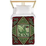 CafePress Celtic Dragon Labyrinth Twin Duvet Cover, Printed Comforter Cover, Unique Bedding, Microfiber