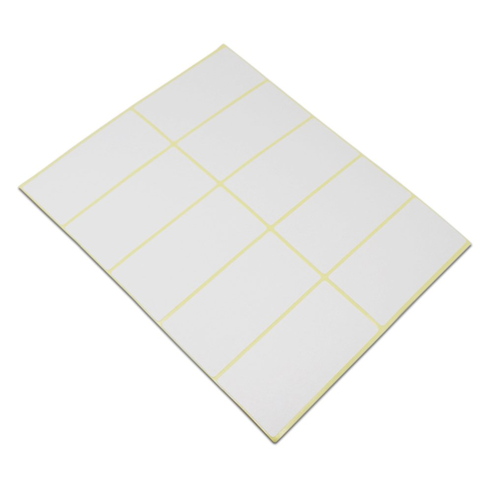 Blank Rectangle White Shipping Address Office Product Tags Self Adhesive School Note Name Mailing Supplies Labels Written Inventory Essential Stickers (1.5x3.0 inch / 750 pieces(75 sheets))
