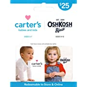 Carter's/OshKosh B'gosh Gift Card $25